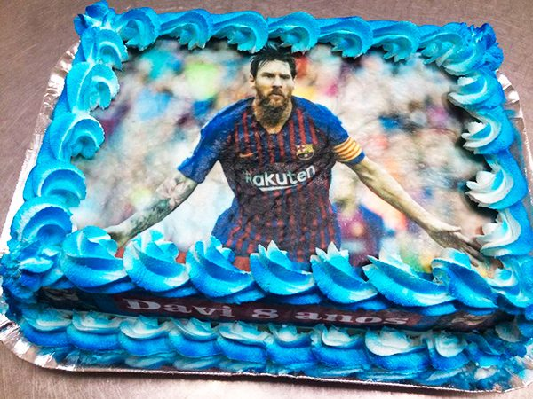 Bolo Impresso Messi
